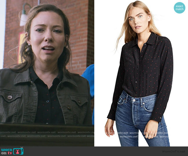 Kate Button Down Shirt by Rails worn by Denise Zarick on Stargirl