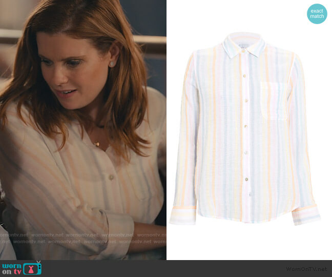 Striped Cotton Shirt by Rails worn by Maddie Townsend (JoAnna Garcia Swisher) on Sweet Magnolias