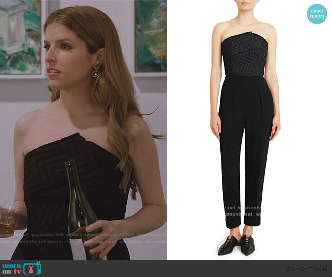 Haye Strapless Crepe Jumpsuit by Roland Mouret worn by Darby (Anna Kendrick) on Love Life