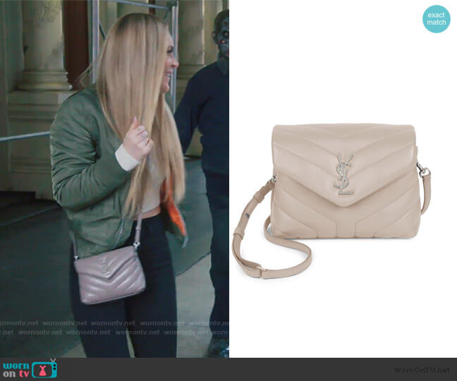 Toy Loulou Matelassé Leather Crossbody Bag by Saint Laurent worn by Leah McSweeney  on The Real Housewives of New York City