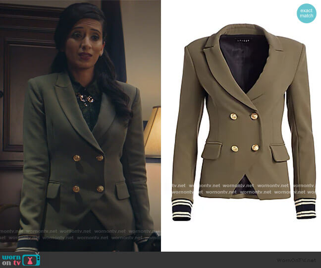 Double Breasted Blazer by Scripted worn by Hina X. Khan on Supergirl