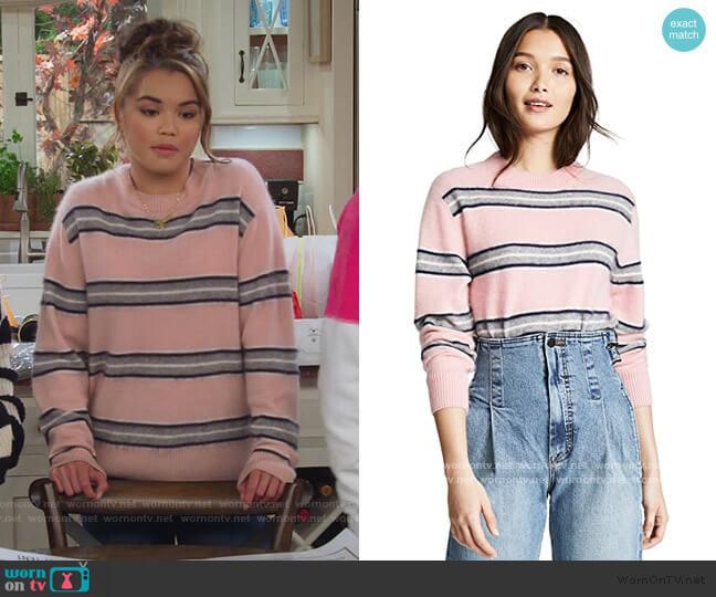 Salene Cashmere Boxy Boyfriend Sweater by Sea worn by Alexa Mendoza (Paris Berelc) on Alexa & Katie
