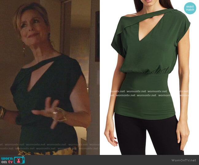 Helen Asymmetric Blouson Top by Silvia Tcherassi worn by Jacqueline (Melora Hardin) on The Bold Type