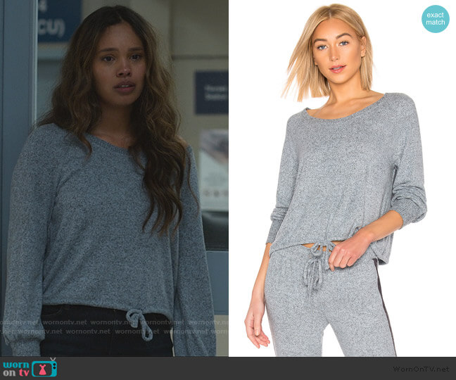 Long Sleeve PJ Top by Splendid worn by Jessica Davis (Alisha Boe) on 13 Reasons Why