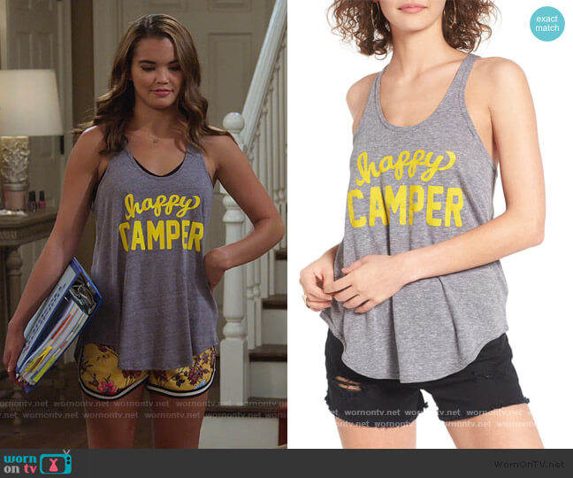Happy Camper Athena Tank by Sub_Urban Riot worn by Alexa Mendoza (Paris Berelc) on Alexa & Katie