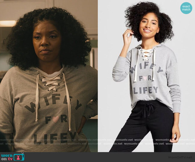 Wifey For Lifey Sweatshirt by Target worn by Birgundi Baker on The Chi