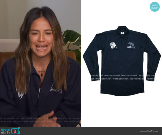 Nature of Eternity Work Shirt by The Last Adam worn by Erin Lim  on E! News