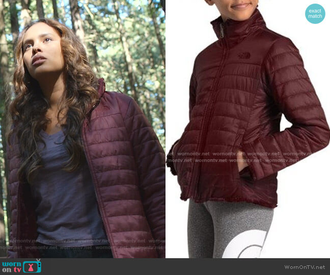 Reversible Mossbud Swirl Jacket by The North Face worn by Jessica Davis (Alisha Boe) on 13 Reasons Why