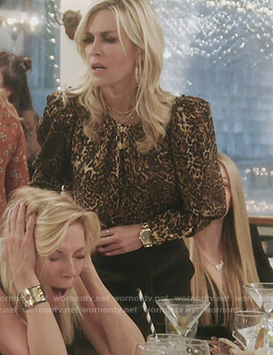 Tinsley's leopard print blouse on The Real Housewives of New York City
