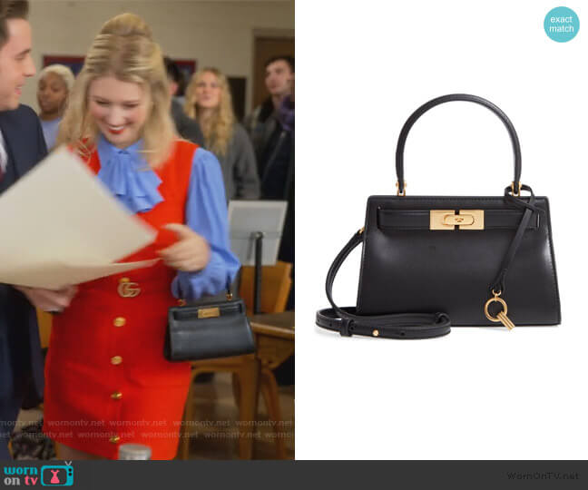 Mini Lee Radziwill Leather Bag by Tory Burch worn by Alice (Julia Schlaepfer) on The Politician
