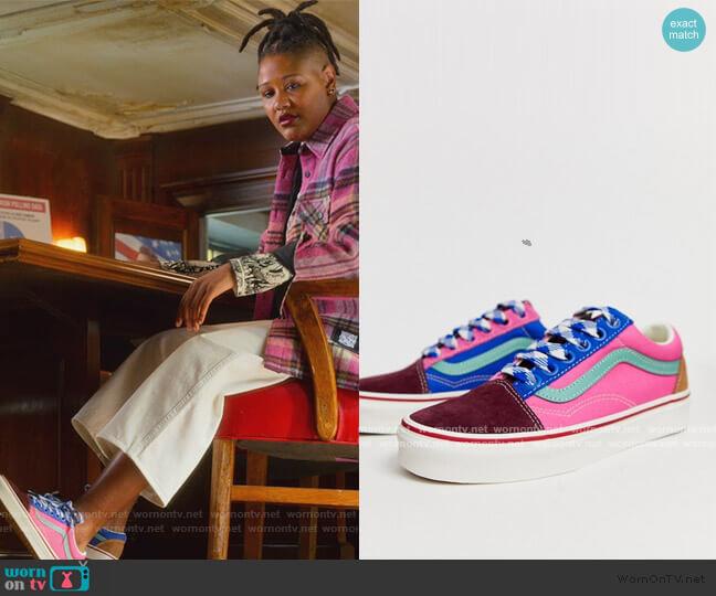 Old Skool frayed color block sneakers worn by Skye (Rahne Jones) on The Politician