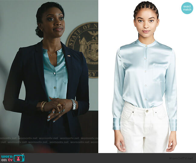 Slim Fitted Blouse by Vince worn by Kate Sacker (Condola Rashad) on Billions
