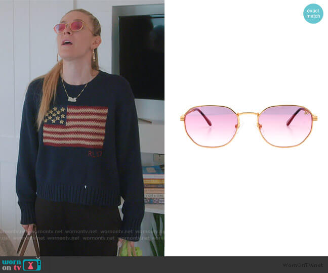 VF Detroit Player Sunglasses by Vintage Frames worn by Leah McSweeney  on The Real Housewives of New York City