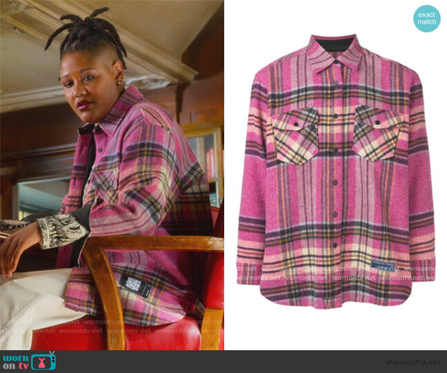 Plaid Oversized Shirt by We11done worn by Skye (Rahne Jones) on The Politician