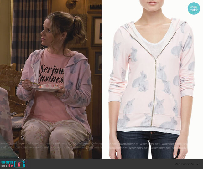 Snow Bunny Track Jacket by Wildfox worn by Kimmy Gibbler (Andrea Barber) on Fuller House