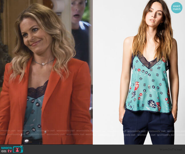 Christy Daisy Camisole by Zadig and Voltaire worn by DJ Tanner-Fuller (Candace Cameron Bure) on Fuller House