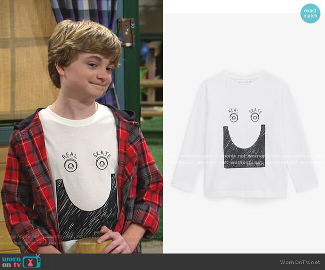 Real Skate Top by Zara worn by Finn Sawyer (Will Buie Jr) on Bunkd