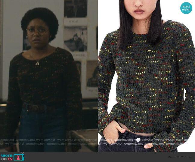 Multicolred knit Sweater by Zara worn by Beth Chapel (Anjelika Washington) on Stargirl