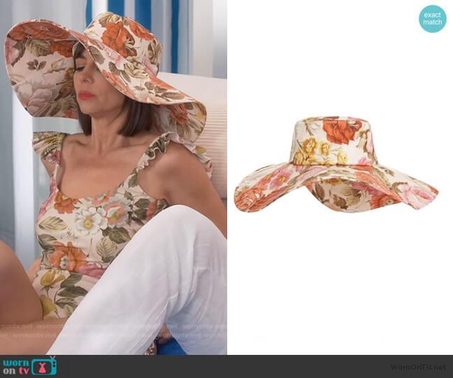 Wide Brim Sunhat by Zimmermann worn by Jackie (Pauley Perrette) on Broke
