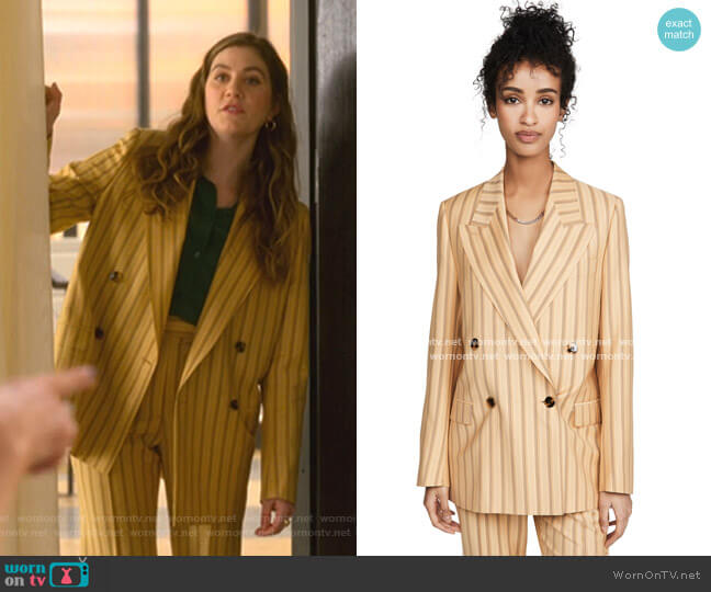 Janny Pinstripe Blazer by Acne Studios worn by McAfee (Laura Dreyfuss) on The Politician