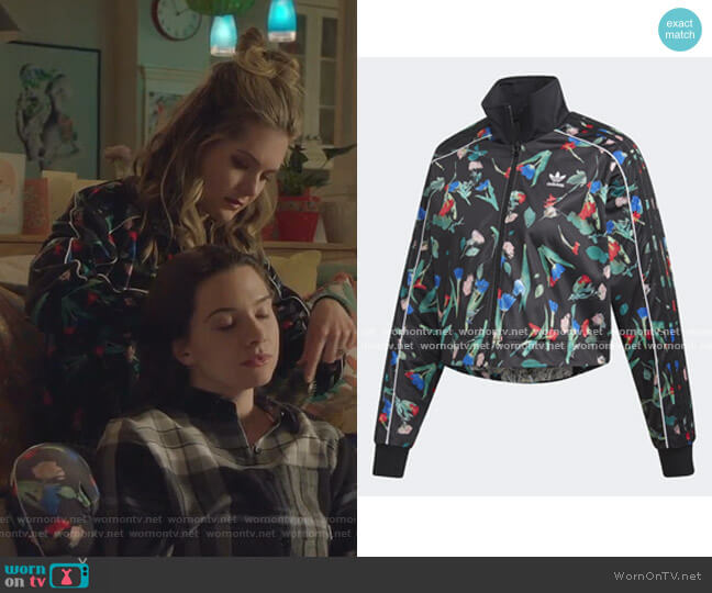 Bellista Allover Print Track Jacket by Adidas worn by Sutton (Meghann Fahy) on The Bold Type