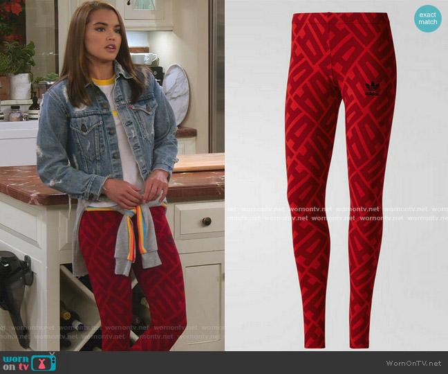 Allover Print Leggings by Adidas worn by Alexa Mendoza (Paris Berelc) on Alexa & Katie