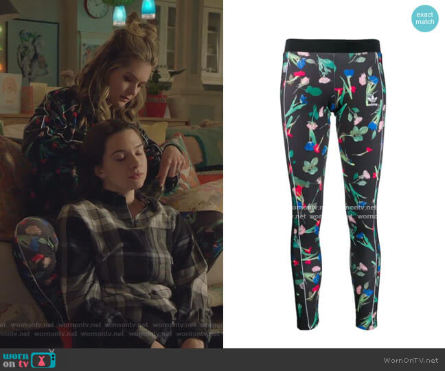 Floral Print leggings by Adidas worn by Sutton (Meghann Fahy) on The Bold Type