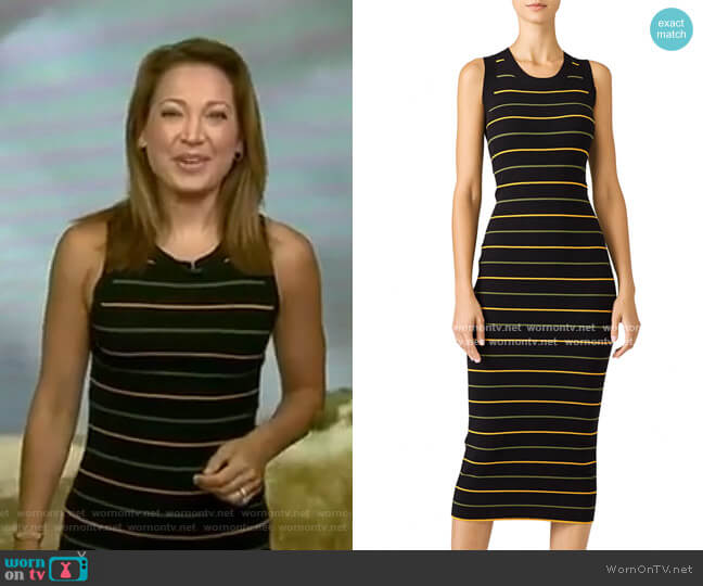 Striped Shane Dress by A.L.C. worn by Ginger Zee  on Good Morning America