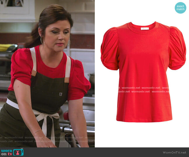 Kati Top by A.L.C. worn by Lori Mendoza (Tiffani Thiessen) on Alexa & Katie