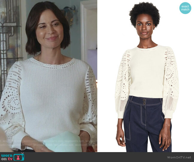 Sandra Top by A.L.C. worn by Cassandra Nightingale (Catherine Bell) on Good Witch