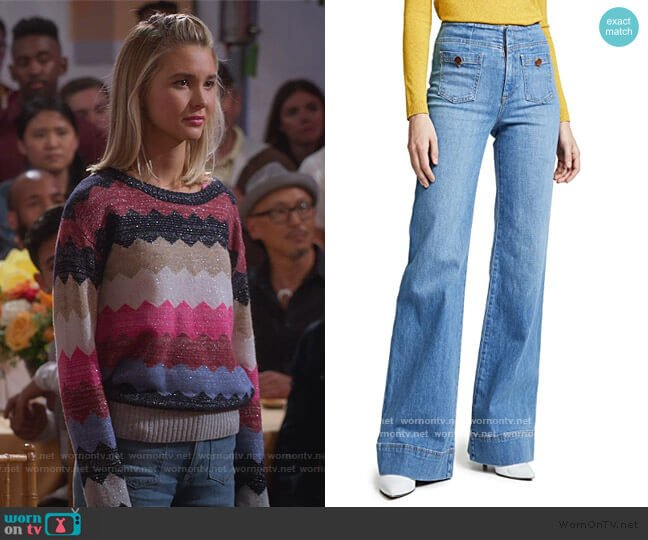 Gorgeous Wide Leg Jeans by Alice + Olivia worn by Katie Cooper (Isabel May) on Alexa & Katie