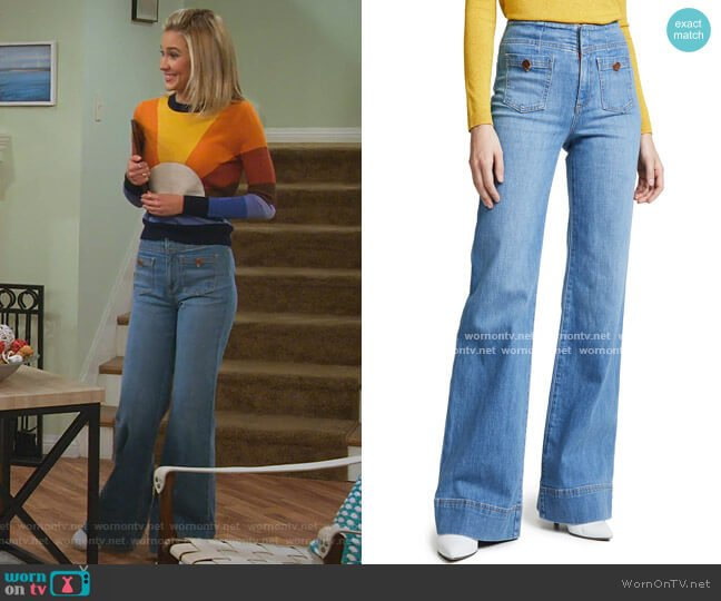 Gorgeous Wide Leg Jeans by Alice + Olivia Jeans worn by Katie Cooper (Isabel May) on Alexa & Katie