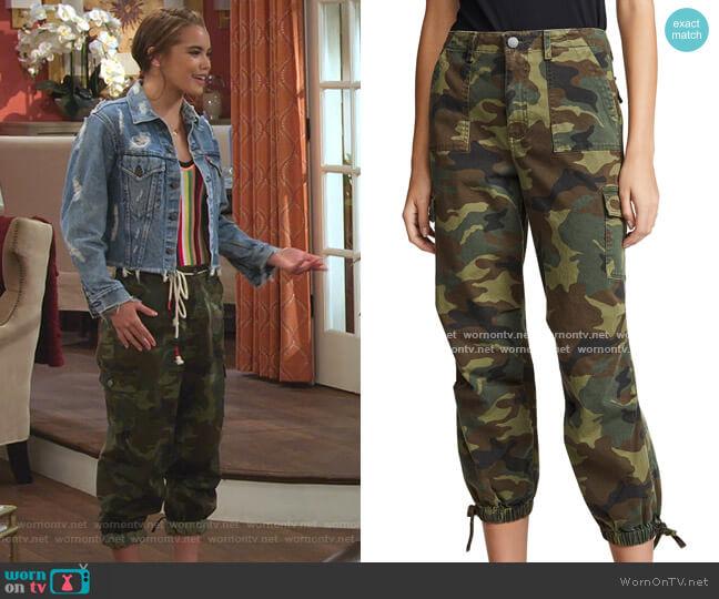 High Waist Cargo Pants by Alice + Olivia worn by Alexa Mendoza (Paris Berelc) on Alexa & Katie