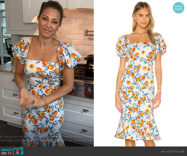 Senorita Dress by Amanda Uprichard worn by Ginger Zee  on Good Morning America