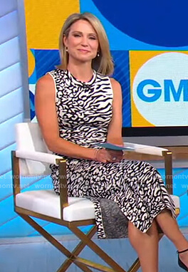 Amy's animal print sleeveless dress on Good Morning America