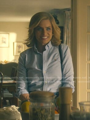 Betty's blue button down shirt on Dirty John
