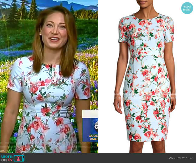 Jodee Dress by Black Halo worn by Ginger Zee  on Good Morning America