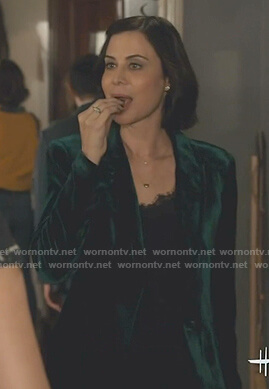 Cassie's green velvet blazer on Good Witch