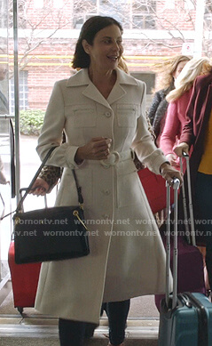 Cassie's white belted coat on Good Witch