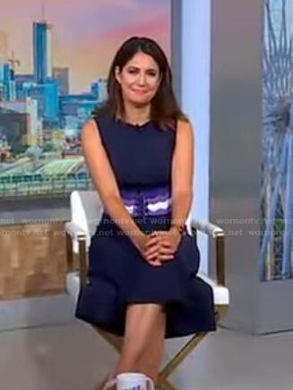 Cecilia's striped corset dress on Good Morning America
