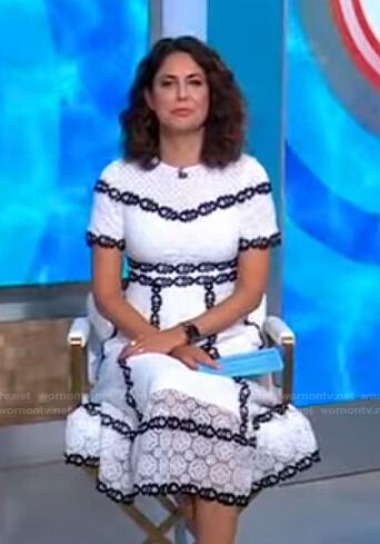 Cecilia's white lace midi dress on Good Morning America