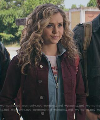 Courtney's red denim jacket on Stargirl