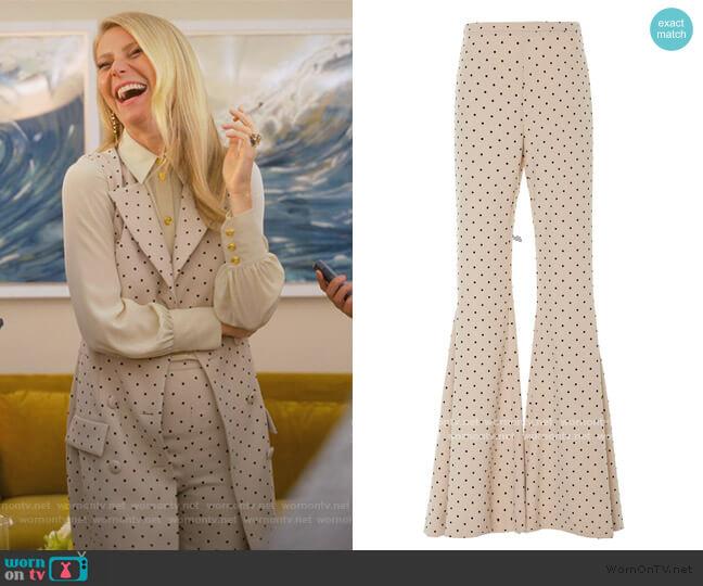 Polka Dot Wide Leg Trouser Christian Siriano worn by Georgina Hobart (Gwyneth Paltrow) on The Politician