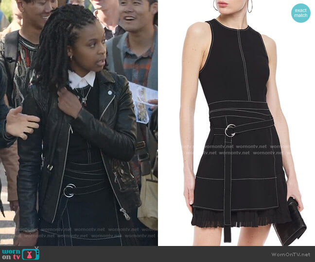 Carver Belted Mini Dress by Cinq a Sept  worn by Ani (Grace Saif) on 13 Reasons Why