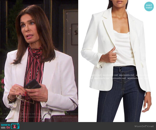 Kym Zipper Blazer by Cinq a Sept worn by Hope Williams (Kristian Alfonso) on Days of our Lives