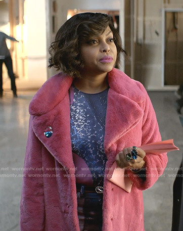 Cookie's pink fur coat on Empire