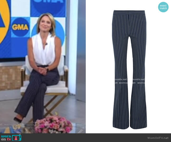 Striped Flared Pants by Derek Lam 10 Crosby worn by Amy Robach  on Good Morning America