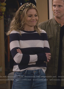 DJ's striped sweater on Fuller House