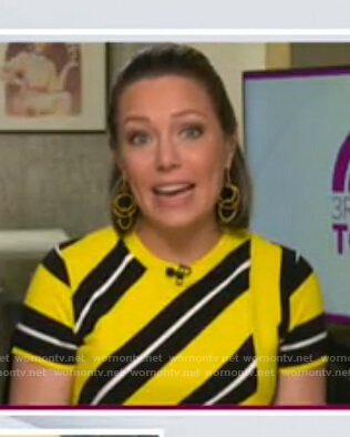 Dylan's yellow and black striped knit top on Today