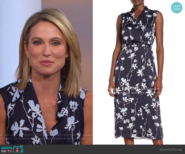 Femma Floral Midi Dress by Equipment worn by Amy Robach  on Good Morning America
